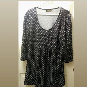 Checker pattern dress